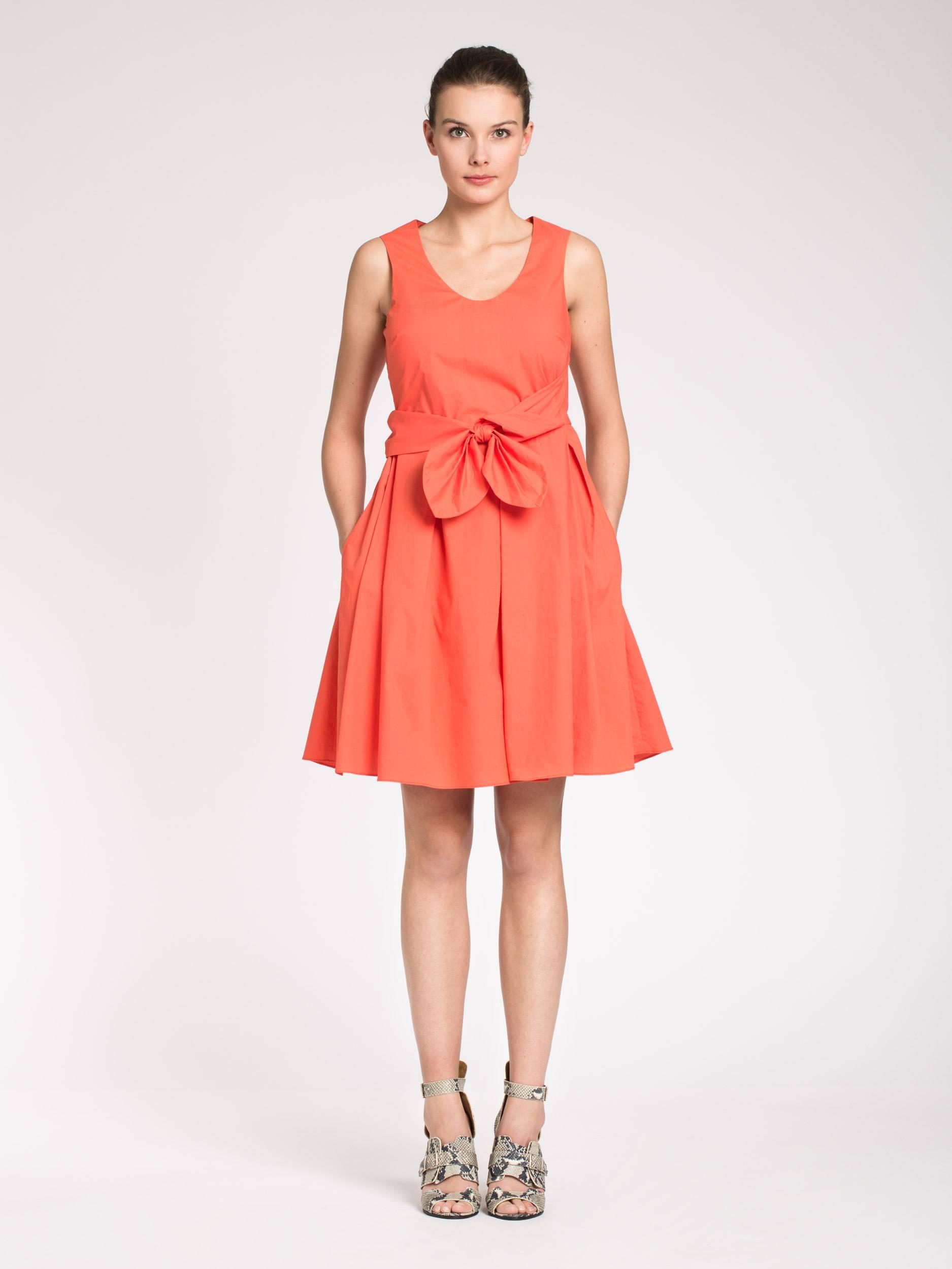 Robe en popeline de coton mademoiselle tara 220 for Robes pour aller au mariage